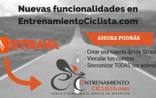 entrenamiento ciclista con strava